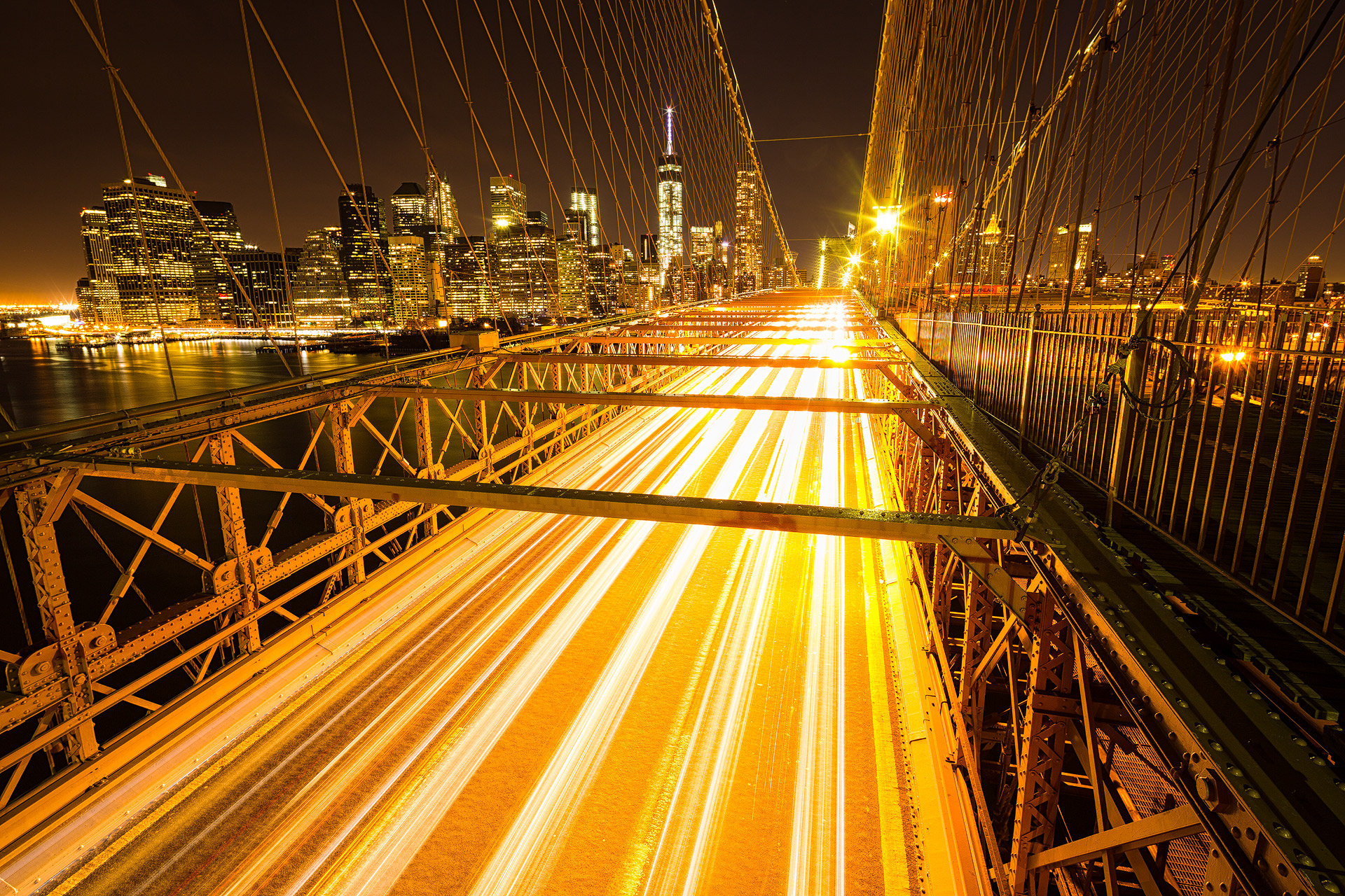 Andrei Duman Brooklyn Bridge Lights 01