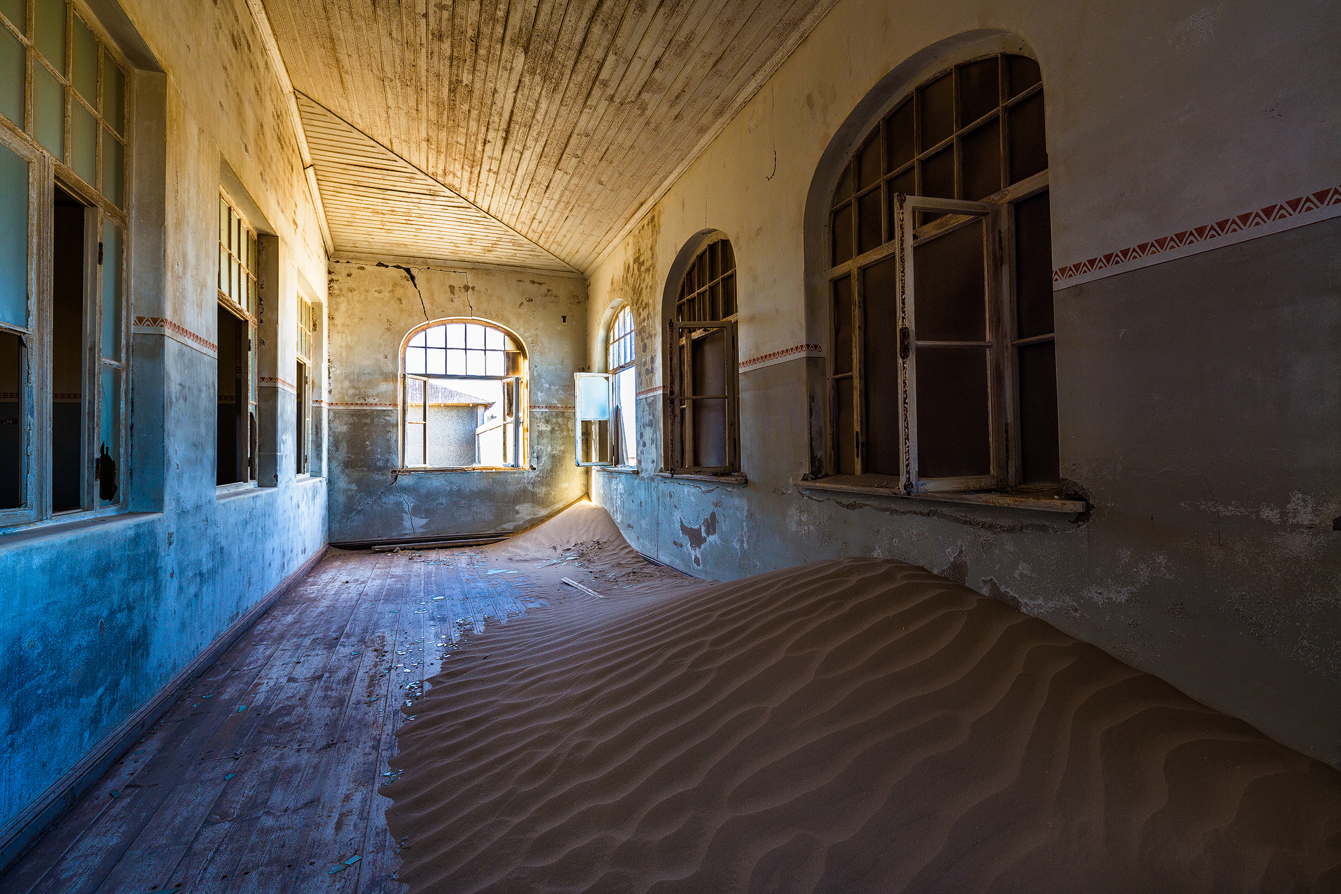 Andrei Duman Kolmanskop, Namibia Arched Windows 13