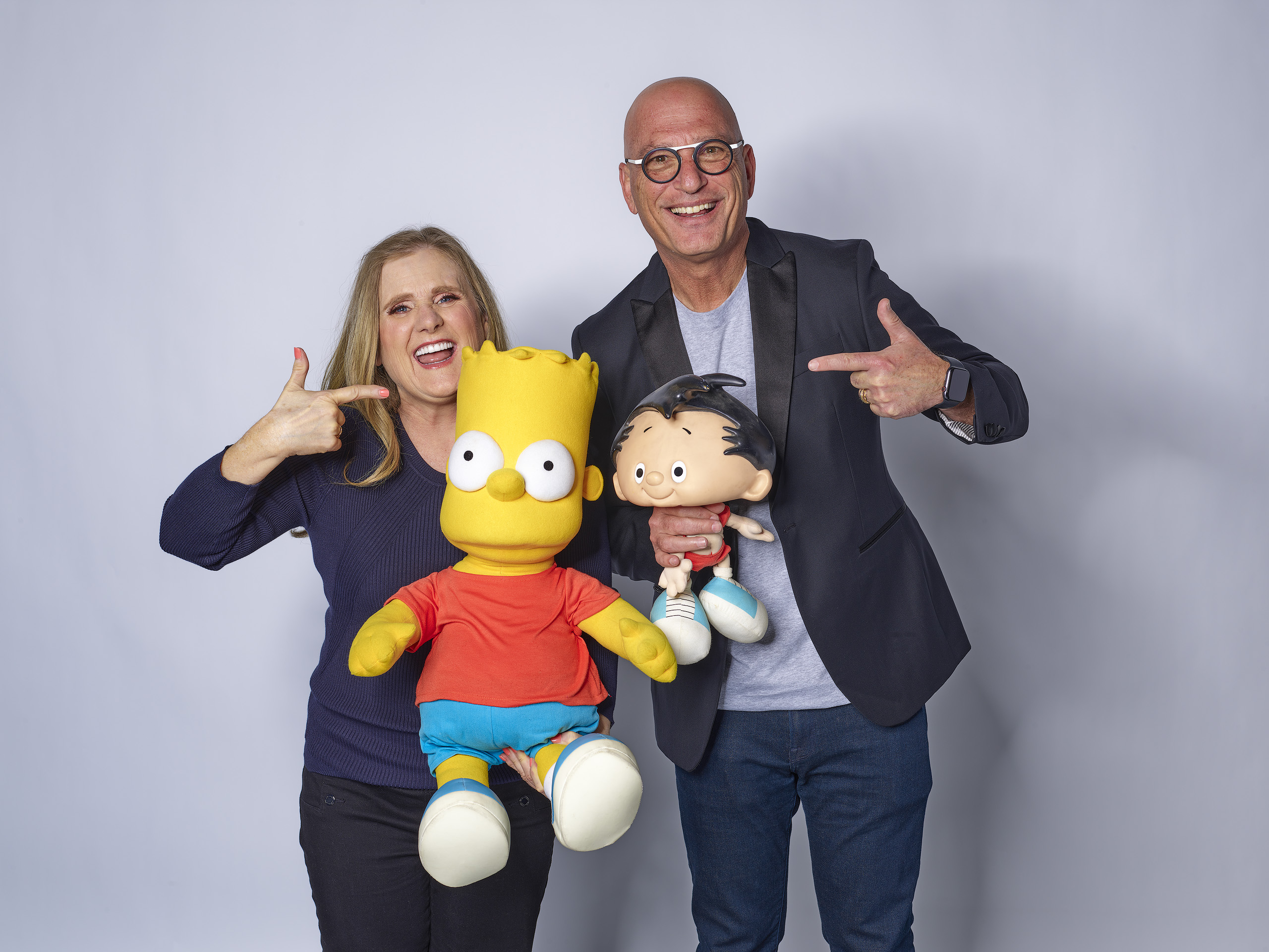 Howie Mandel (Bobby) and Nancy Cartwright (Bart Simpson)