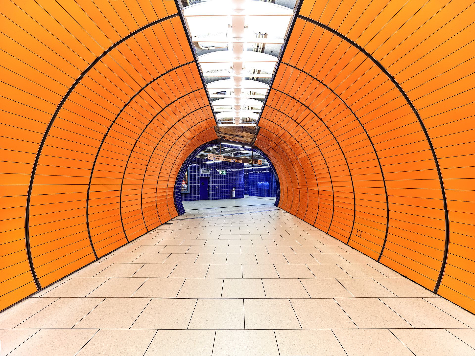Orange Blue Tunnel