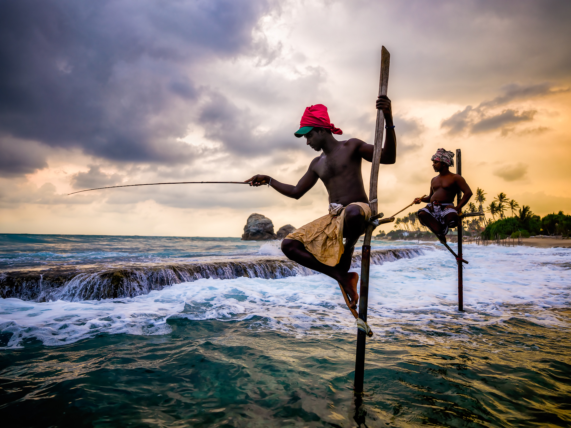 Stilt Fishermen Sunset